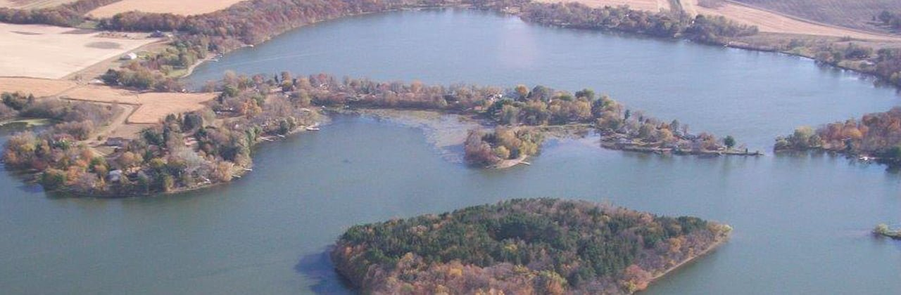 aerial view of mink somers lakes